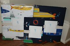 2016 NWT Pottery Barn Kids Submarine full duvet, 2 shams & sheet set ocean beach