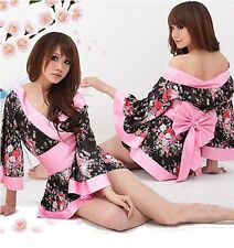 Sexy Japanese Kimono Night Dress Pyjamas Lingerie