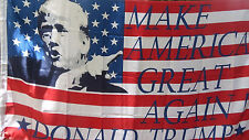 "Just a few left!  ""DONALD TRUMP 3X5 FLAG MAKE AMERICA GREAT AGAIN  WITH PHOTO!"