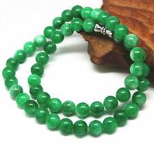 Chinese Hand-carved Natural  Jadeite  Jade  necklace