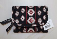 VERA BRADLEY - POCKET WALLET TRI-FOLD - CLASSIC BLACK  - BRAND NEW WITH TAG