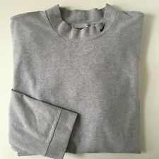 Nike Mens XL 1X T Shirt Long Sleeve Mock Turtleneck Gray Grey Golf Outdoor Sport