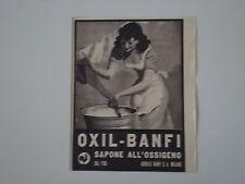 advertising Pubblicità 1941 SAPONE ALL'OSSIGENO OXIL BANFI