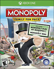 Monopoly Family Fun Pack (Microsoft Xbox One, 2014) DISC IS MINT