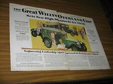1928 Print Ad Willys-Knight & The Whippet, Willys Overland Line