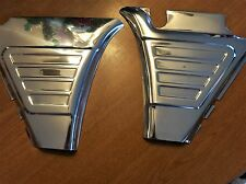 NEW VINTAGE BMW R50/5-R75/5 BATTERY SIDE COVER PAIR POLISHED STAINLESS STEEL