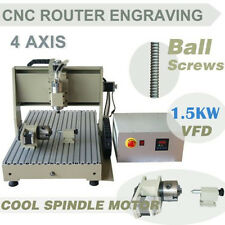 4 Axis 6040 1500W Spindle CNC Router Engraver Engraving/Cutting/Milling Machine