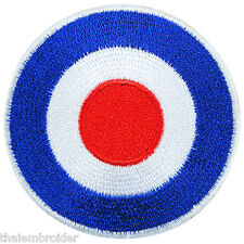 Roundel Mod Target Military Aircraft Biker Scooter Vespa Iron-On Patches #P020
