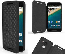 Google Genuine Official Bumper Soft TPU Flannel Flip Cover Case For LG Nexus 5X