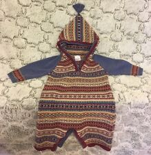Hanna Andersson One Piece Sweater Fair Isle Nordic Romper Size 70 (6-12 Mths)