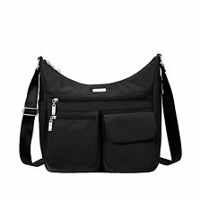 New Baggallini EVERYWHERE  bag crossbody purse BLACK Pockets Lightweight gift