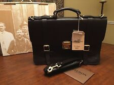 FILSON Brown Leather Field Satchel / Briefcase / Messenger Bag - Made In America