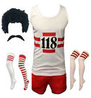 NEW 118 FANCY DRESS MENS WOMENS HEN DO STAG DO MARATHON RETRO CLOTHING WIG SET