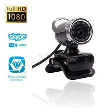 360°USB 2.0 1080P HD WebCam Web Video Camera Clip-on MIC for PC Skype MSN