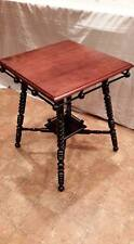 Vintage Antique Victorian Stick and Ball Square Table GORGEOUSLY REFINISHED
