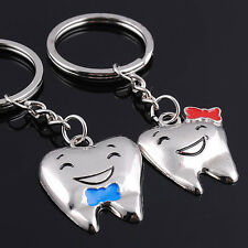 1 Pair Couple Teeth Keychains Lovers Keyring Cute Pendant Lovely Dentist Gifts