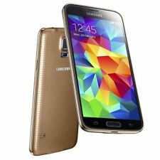 "5.1"" Samsung Galaxy S5 G900P 4G LTE 16GB 16MP Libre TELEFONO MOVIL Oro Gold"