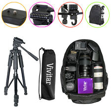 Tripod Backpack Bag Accessory Kit for Canon Rebel T6i T5i T3i T4i T5i T5 70D 80D