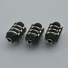 """3PCS 6.35mm(1/4"""") Female Stereo Jack Socket Panel PCB Welding,2013"""