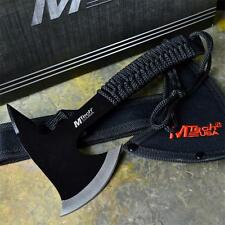"M-TECH 9"" Black Tactical Survival Throwing Cord Handle Axe Hatchet Hawk Tomahawk"