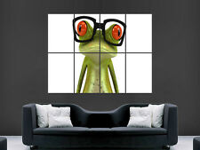 FUNNY FROG 3D GLASSES ART WALL LARGE IMAGE GIANT POSTER ""