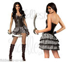 Ladies Sexy Steampunk Pirate Renaissance Fancy Dress Fun Party Costume Outfit