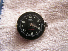 Vintage Liberty Jewelled Swiss Watch Black Dial and Movement
