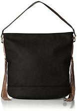 MG Collection Janna Tassel Slouchy Shopper Hobo Shoulder Bag,Black, One Size AC3