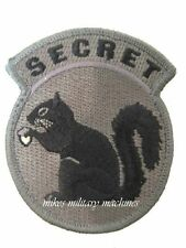 Military Black Ops Army Navy Seal Team Top Secret Squirrel ACU Dark Patch New