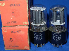 NOS / NIB Matched Pair RCA 6SL7GT Black Plate Same 1943 Date Same As VT-229