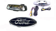 "Ford Emblem Backup Camera & 7.3"" Rearview Mirror F150, F250, F350, F450, Flex"