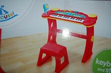New Keyboard & Stool Music & Lights Young Musicians 8 Instrument Sounds & Rhythm