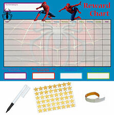 Spiderman Behaviour Reward Reusable Chart (A4 FREE~Stickers Pen Adhesive Pads)