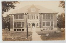 New York NY Real Photo RPPC Postcard CANDOR 1910 HIGH SCHOOL BUILDING 6