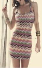 Lovers & Friends  Zig Zag Cutout Fitted Sexy Beach Dress $180~Sz S