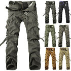 Army Style Men's Casual Cargo Camo Combat Work Pants Military Long Trousers New