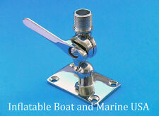 Boat Radio VHF Antenna Ratchet Mount Base - Marine 316 Stainless Steel