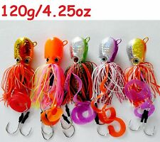 5 pcs Thunder Jigs Each 4.25oz /120g Octopus Saltwater Fishing Lures- 5 Colors
