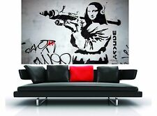 street mona lisa  wall decor graffiti art painting 160cm custom banksy
