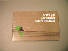 1986-1989 Vintage Arctic Cat Snowmobile Safety Handbook