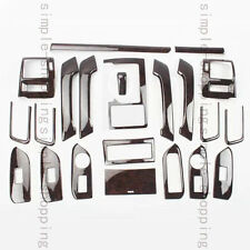 22PCS Agate Color Inner Trim Kit Full Set Cover For Toyota Prado FJ150 2010-2016