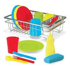 Melissa & Doug Let's Play House! Wash & Dry Dish Set 4282