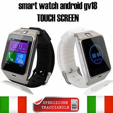 Smart-Watch Phone GV18  HD Bluetooth Orologio Telefono per ARCHOS HUAWEI G4 P7 7
