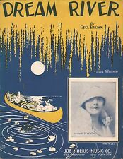 DREAM RIVER jazz song GEORGE BROWN piano, ukulele, vocal ART DECO CANOE 1928