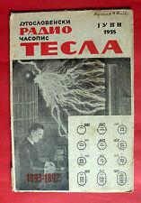 NIKOLA TESLA 1935 UNIQUE CYRILLIC ELECTRICAL RADIO EXYU SCIENTIFIC MAGAZINE # 2