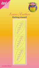 JOY CRAFTS Die Cutting & Embossing Stencil LEAVES & FEATHER LEAF Large 6002/3002
