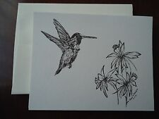 Hummingbird - 6 Blank Notecards and Linen Style Envelopes