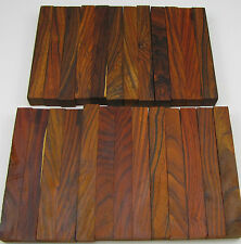 """25 Cocobolo Pen Blanks 5/8""""x 5/8""""x5"""" Exotic Wood Lumber Free Shipping C-206"""