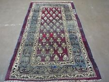 4' X 6' Antique Hand Made Indian Agra Persian Boteh Paisley Wool Rug Nice