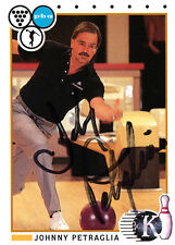 BOWLING Johnny Petraglia Hall of Fame HOF 1991 Kingpins SIGNED CARD AUTOGRAPHED